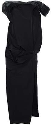 Rick Owens Gazar-Trimmed Draped Cotton And Silk-Blend Gabardine Gown