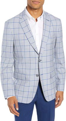 John W. Nordstrom Traditional Fit Check Wool Sport Coat