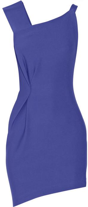 Roland Mouret Anser asymmetric crepe mini dress
