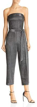 Lucy Paris Alex Strapless Metallic Cropped Jumpsuit