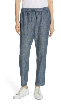 Eileen Fisher Drawstring Hemp & Organic Cotton Ankle Pants