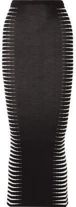 Haider Ackermann Wool And Silk-blend Jacquard Maxi Skirt