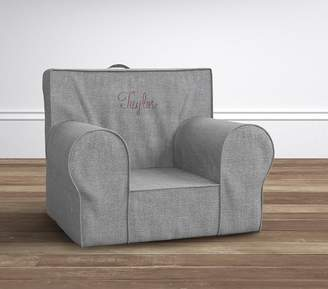 Pottery Barn Kids Charcoal Washed Grainsack Anywhere Chair Slipcover Only