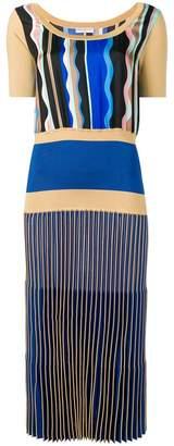 Emilio Pucci Guanabana Print Pleated Midi Dress
