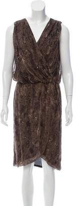Haute Hippie Silk Sleeveless Midi Dress