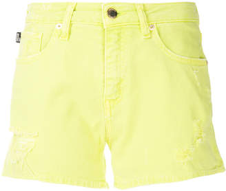 Love Moschino distressed denim shorts