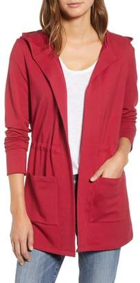 Caslon Hooded French Terry Cardigan