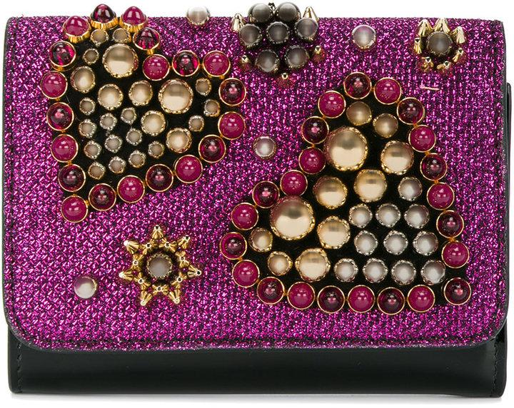 Christian Louboutin Christian Louboutin Macaron bead embellished wallet