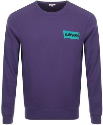 Levi's Levis Crew Neck Sweatshirt Purple