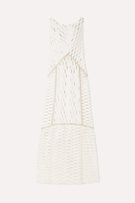 Rachel Zoe Laurent Metallic Fil Coupé Organza Maxi Dress - White