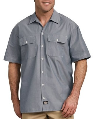 Dickies Big Men's Relaxed Fit Short Sleeve Chambray Shirt