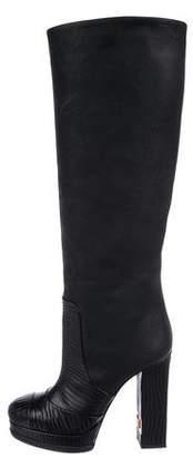 Chanel CC Platform Mid-Calf Boots