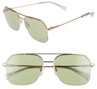 Raen Munroe 55mm Square Aviator Sunglasses