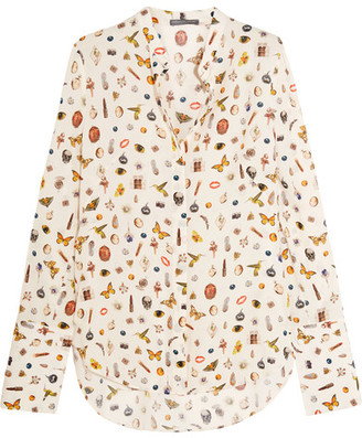 Alexander McQueen - Obsession Printed Silk Blouse - Ivory $1,245 thestylecure.com