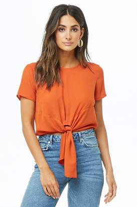 Forever 21 Tie-Front Chiffon Top