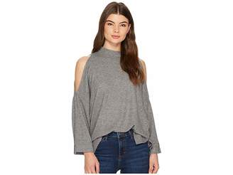 1 STATE 1.STATE 3/4 Sleeve Cold Shoulder Top Women's Clothing