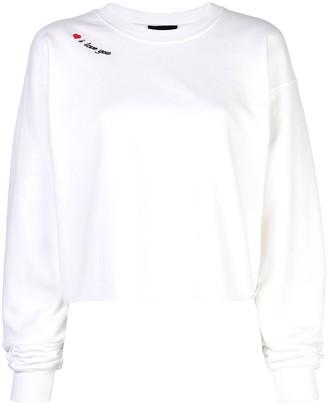 Cynthia Rowley I Love You Sweatshirt