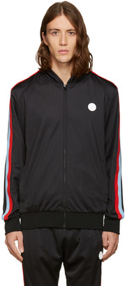 MSGM Black Track Zip Jacket $425 thestylecure.com