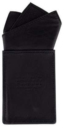 Maison Margiela Leather-Trimmed Pocket Mirror