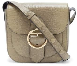 Joseph Knight 25 Snakeskin Effect Leather Cross Body Bag - Womens - Khaki