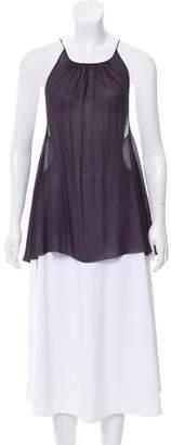 AllSaints Silk Narrow-Shoulder Strap Top