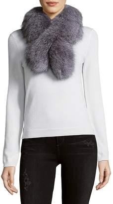 Surell Women's Pull Through Fox Fur Scarf