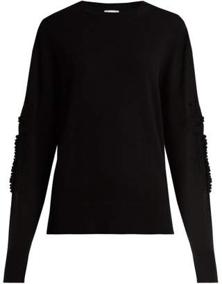 Barrie - Timeless Romantic Crew Neck Cashmere Sweater - Womens - Black
