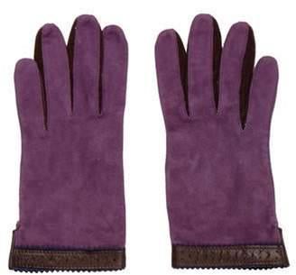 Bergdorf Goodman Suede Gloves Violet Suede Gloves