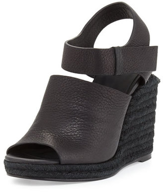 Alexander Wang Tori Espadrille Wedge Sandal, Black $425 thestylecure.com