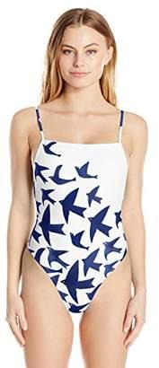 Mara Hoffman Women's High Cut One Piece Swimsuit