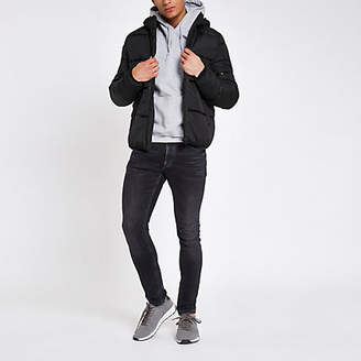 River Island Only and Sons black hooded puffer jacket