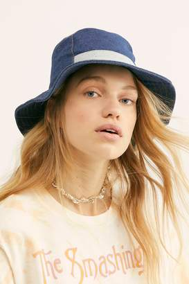 Understated Leather Jean Genie Patchwork Bucket Hat