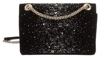 Giorgio Armani Crystal-Embellished Suede Crossbody Bag Black Crystal-Embellished Suede Crossbody Bag