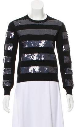 Marc Jacobs Long Sleeve Sequined Sweater