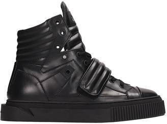 Gienchi Black Leather Hypnos Sneakers
