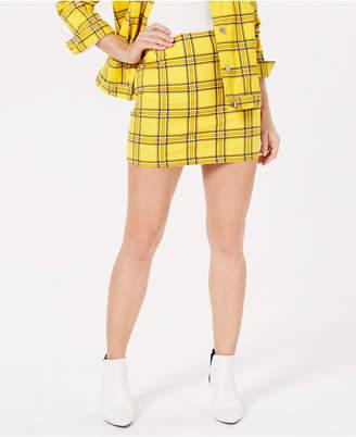 GUESS Plaid Short Skirt