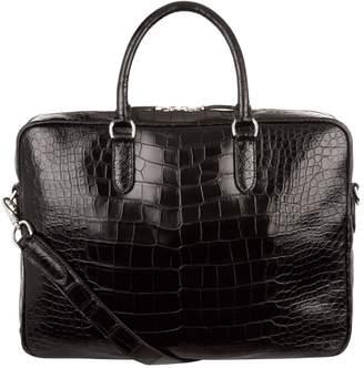 Ralph Lauren Purple Label Alligator Briefcase