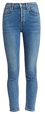 RE/DONE Women's Ultra Stretch High-Rise Ankle Skinny