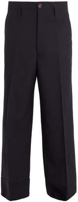 Marni High-rise wide-leg wool trousers