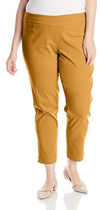 SLIM-SATION Women's Plus-Size Plus-Size Pull On Solid Ankle Pant