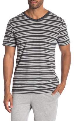 Daniel Buchler Heather Striped T-Shirt