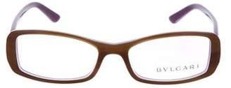 Bvlgari Narrow Rectangle Eyeglasses