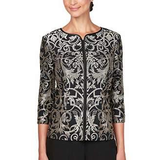 Alex Evenings Women's Wraps, Shawls, Cover Ups, Jackets, Gold Black, S