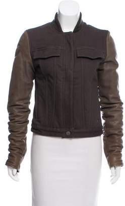 Alexander Wang Leather Sleeve Denim Jacket