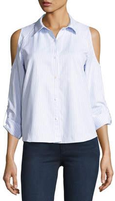 Generation Love McKenna Striped Button-Front Shirt, Blue/White