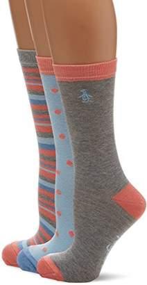 Original Penguin Women's Lshpe492 Socks,(Manufacturer Size: 4 to 8) pack of 3