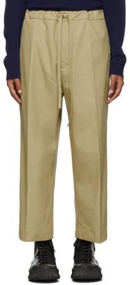 BEIGE Jil Sanderand Cropped Wide-Leg Casual Trousers