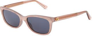 Gucci Rectangle Plastic Sunglasses