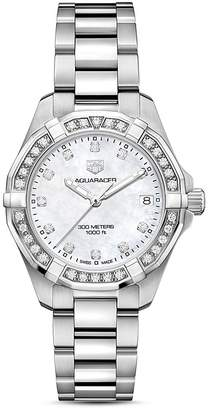 Tag Heuer Aquaracer Diamond Bezel Watch, 32mm