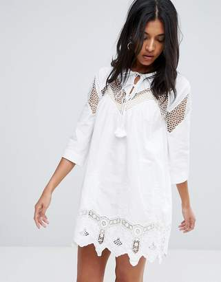 To Be Adored Yana Embroidery Anglaise Lace Tunic Dress